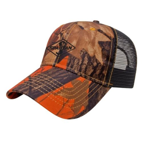 Spartan Orange Ridge Camo Hat
